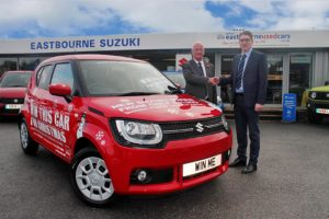 Pictured L to R: Bill Plumridge from The Beacon and Matt Piper from the Eastbourne Motoring Centre.