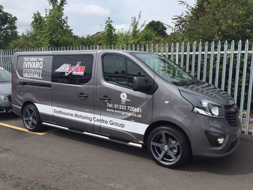 Eastbourne Airbourne 2015 Signage on a Vauxhall Vivaro Van