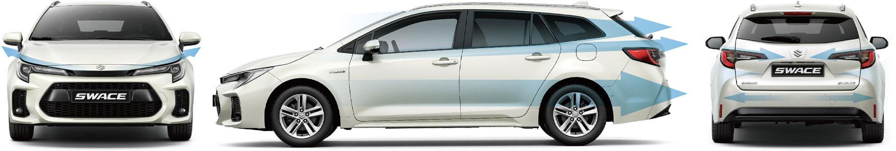 Dynamic Exterior Suzuki Swace 2020