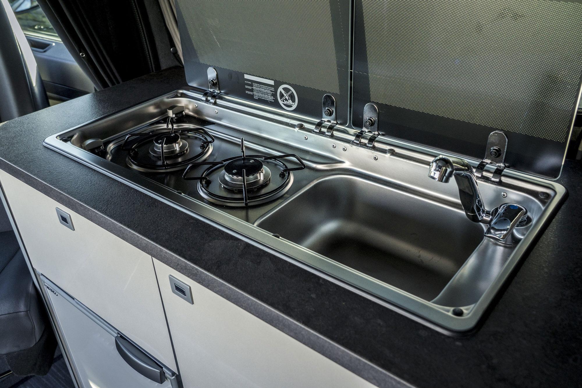 Vauxhall Vivaro Elite Campervan Kitchen